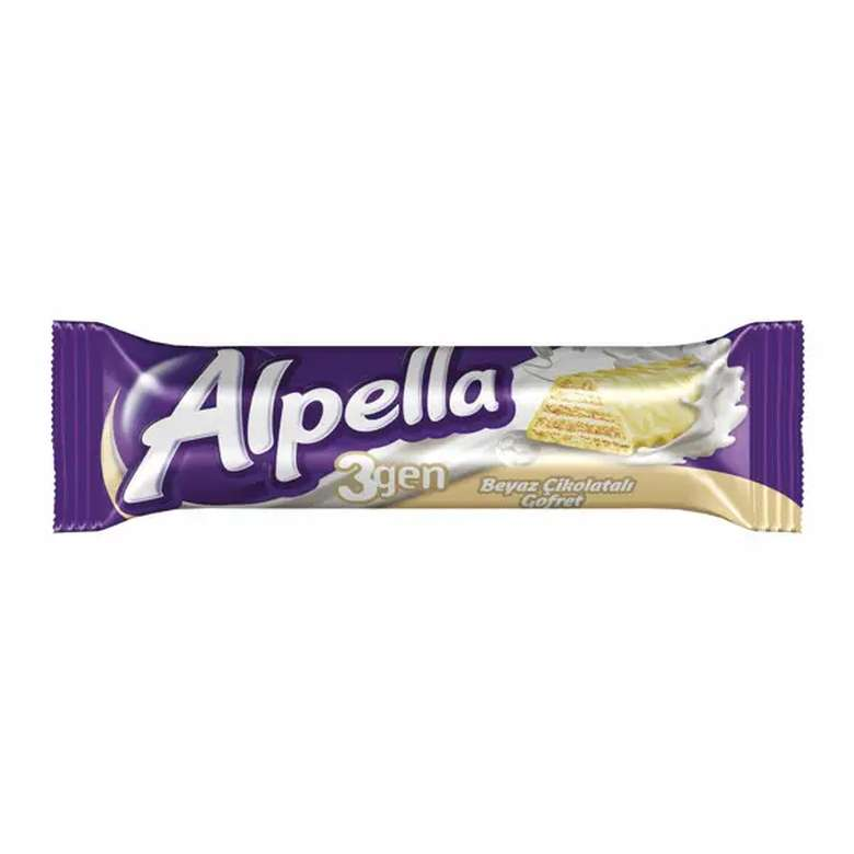 Alpella Beyaz Çikolatalı Gofret 28g