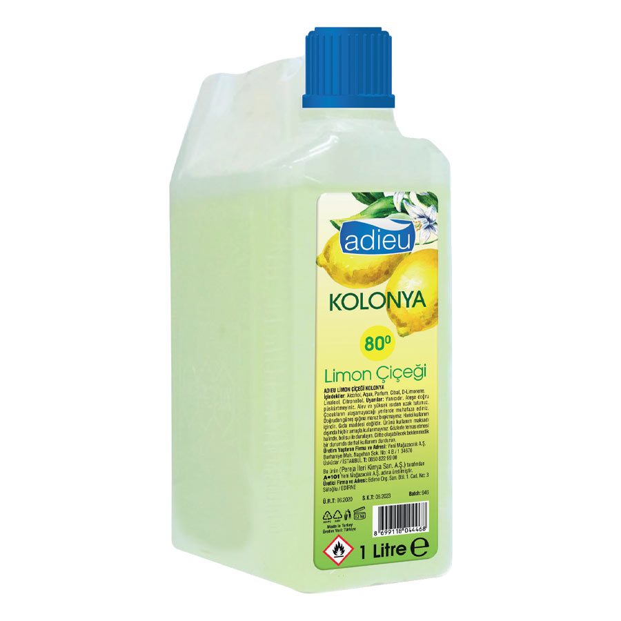 Adieu Kolonya Limon Cicegi 1000 Ml A101