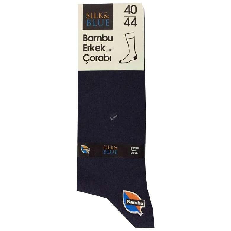 Silk & Blue Bambu Erkek Çorap Yeşil-Siyah