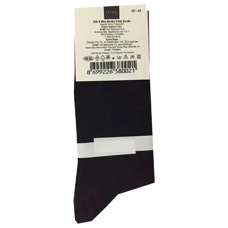 Silk&Blue Bambu Erkek Çorap - Mor - Siyah, .