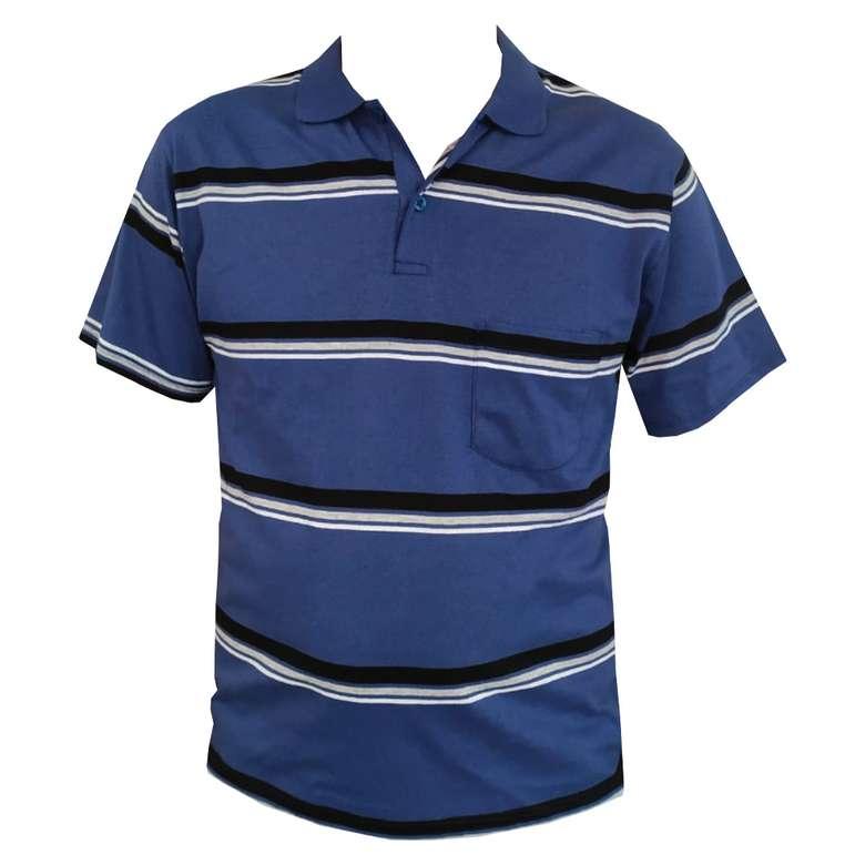 Erkek Polo Yaka Tshirt Seven Hı, Mavi, M