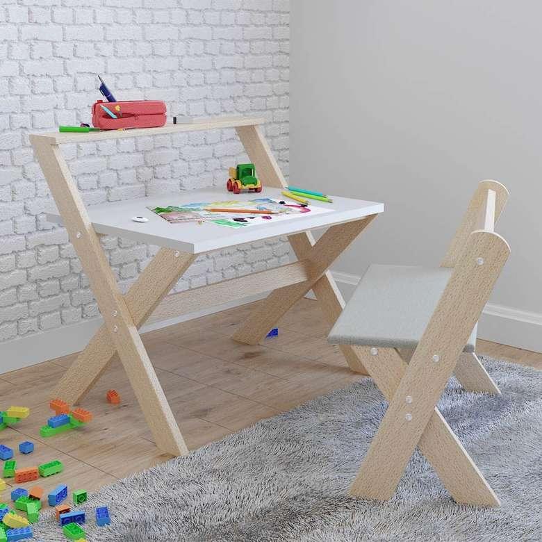 Bie 7060 Ahşap Çocuk Masa Sandalye Takım