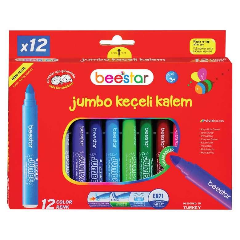 Jumbo Boy Keçeli Kalem 12 Li Beestar - Tekli