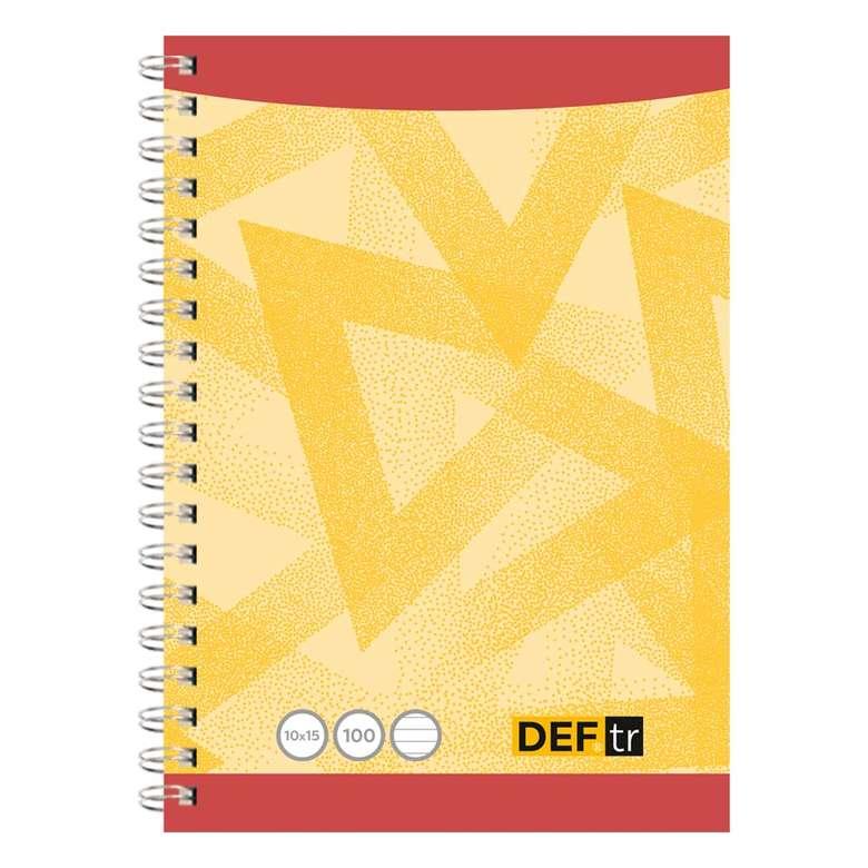 10X15 Cm 100 Yaprak Not Defteri Çizgili, Sarı