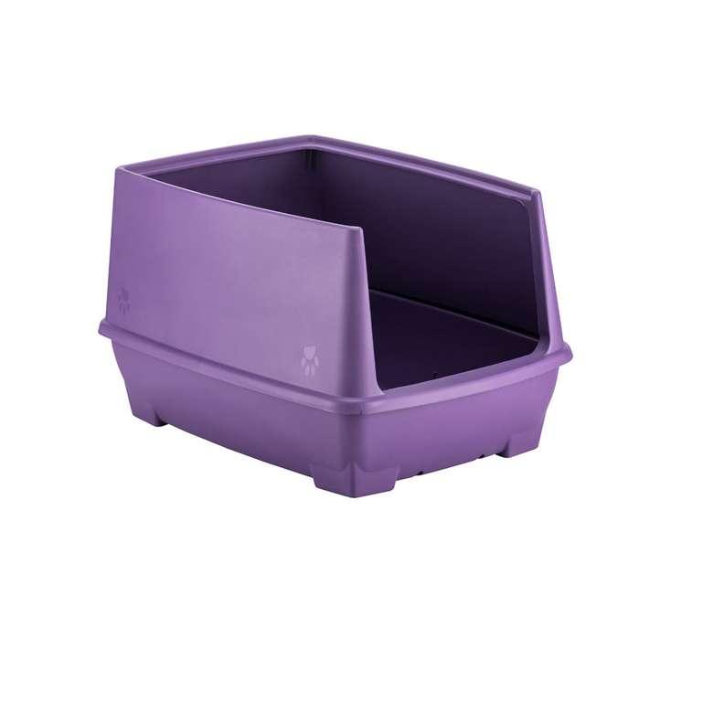 Relax Yarı Kapalı Kedi Tuvaleti - Mor