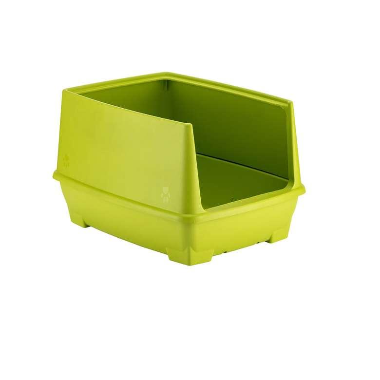 Relax Yarı Kapalı Kedi Tuvaleti - Yeşil