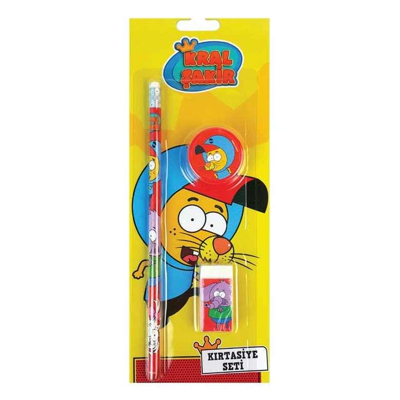 Lisanslı 2 Kalem+Silgi Seti Sarı