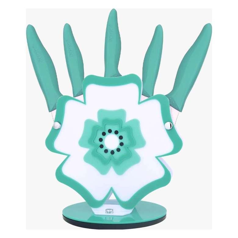 Rooc Bıçak Seti Çiçek Mavi