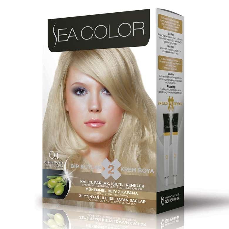 Sea Color Saç Boyası 100 Ml Platin Sarı 0.1