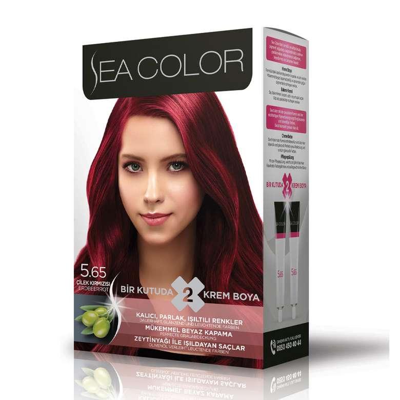 Sea Color Saç Boyası  Çilek Kırmızısı 5.65 100 Ml
