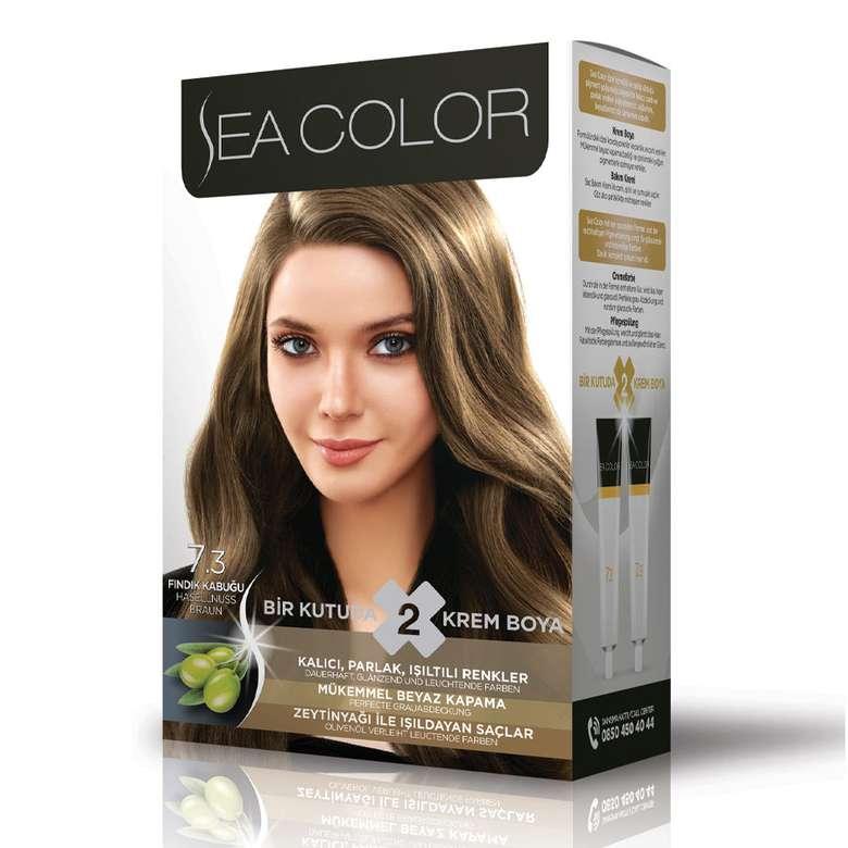 Sea Color Saç Boyası 100 Ml Fındık Kabuğu 7.3
