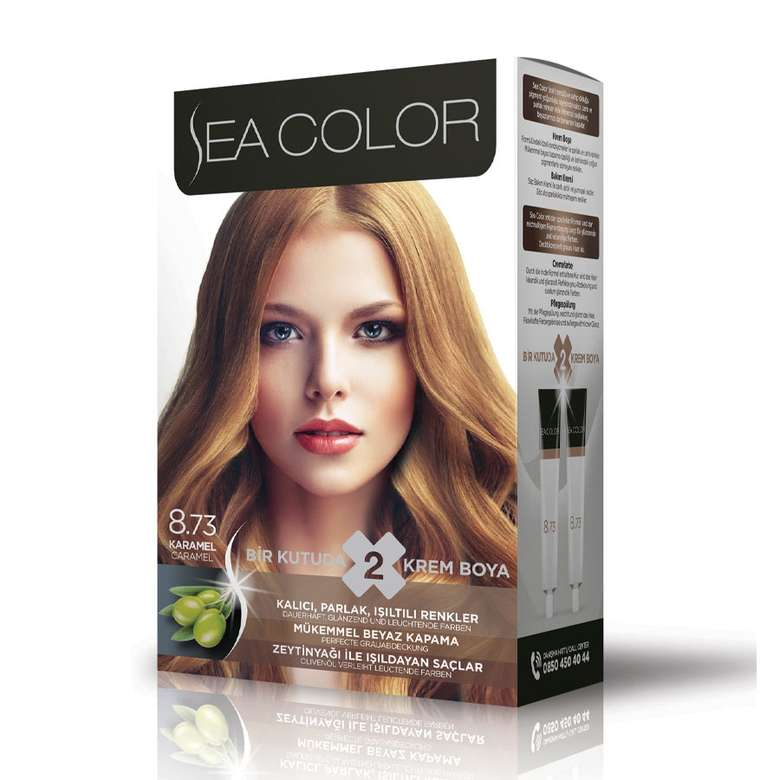Sea Color Saç Boyası 100 Ml Karamel 8.73
