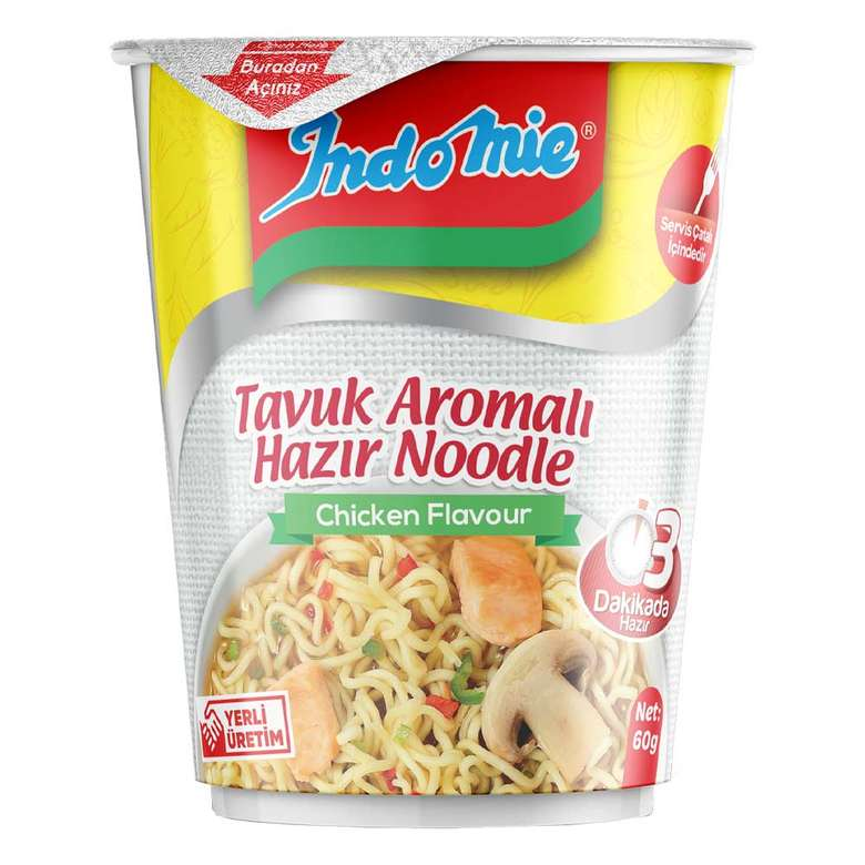 İndo Mie Noodle Bardak Tavuklu 60 G