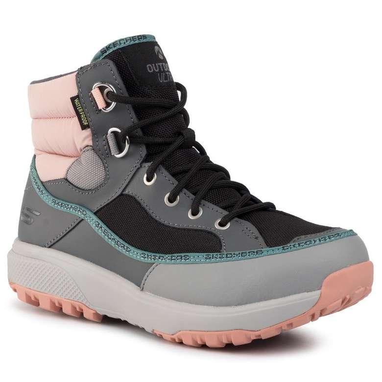 Skechers 15562-GYMT Kadın Ayakkabısı, Gri - Pembe, 37