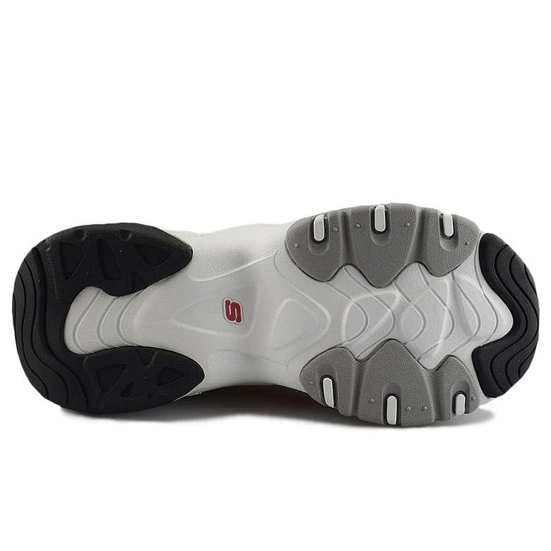 Skechers 12955-WBRD Kadın Ayakkabısı, Siyah - Beyaz, 39