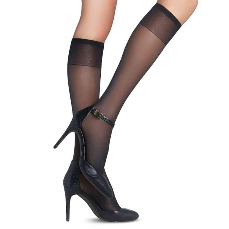 Penti Bayan Dizaltı Pantolon Çorabı 2 'li - Siyah