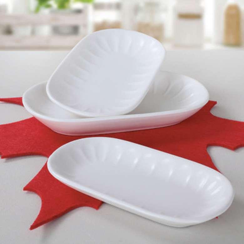 Keramika Servis Seti 3'lü - Beyaz