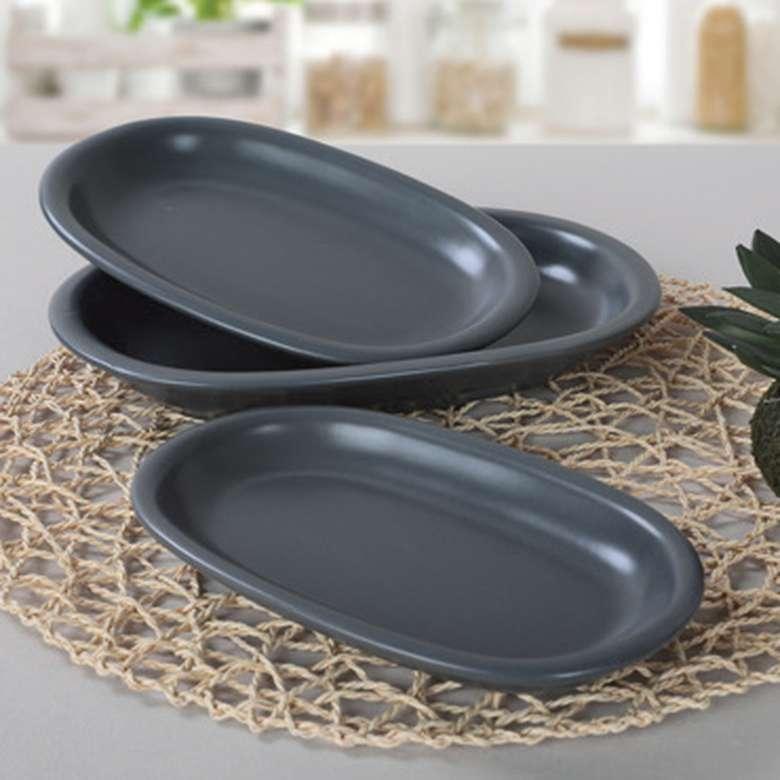 Keramika Servis Seti 3'lü - Gri