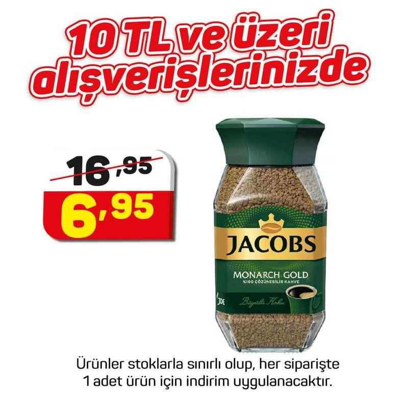 Jacobs Monarch Kahve Gold Cam Kavanoz 47,5 G