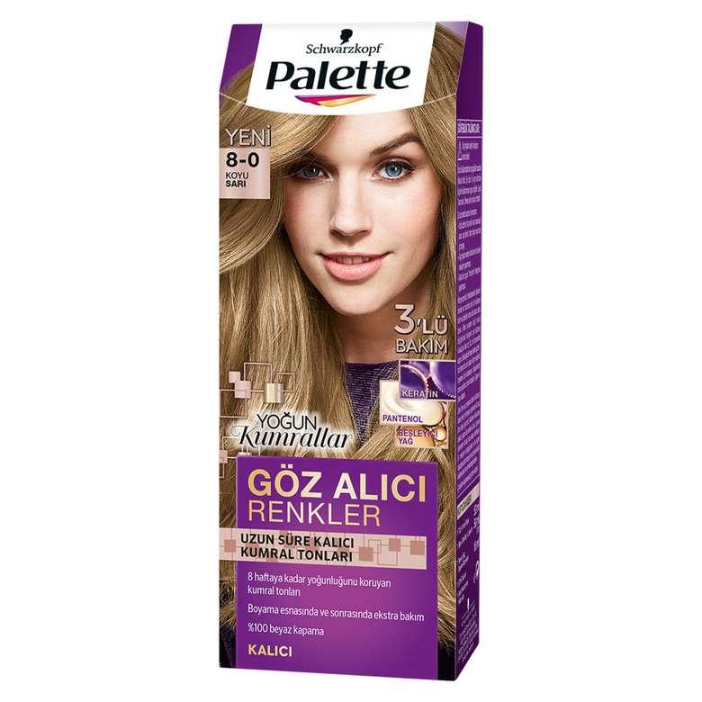 Palette Göz Alıcı Renkler Saç Boyası - Koyu Sarı 8 - 0