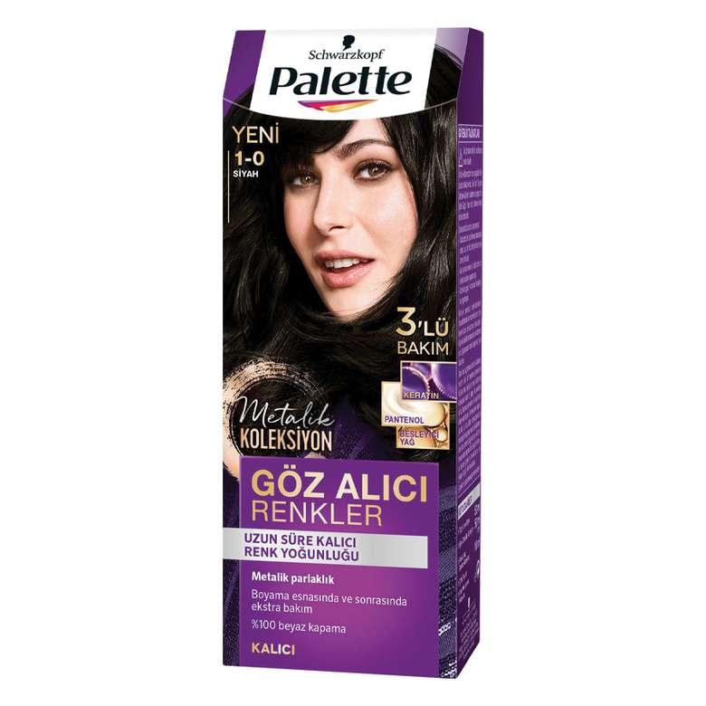 Palette Göz Alıcı Renkler Saç Boyası - Siyah 1 - 0
