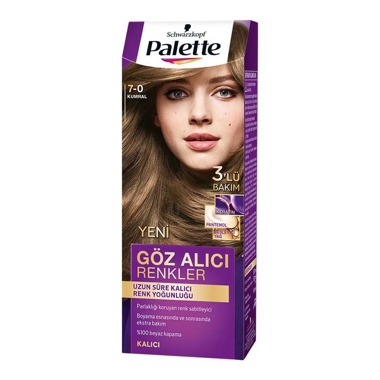 Palette Göz Alıcı Renkler Saç Boyası - 7-0 Kumral