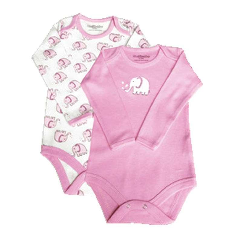 Bebek Uzun Kol Çıtçıtlı Body - Pembe, 3 - 6 Ay