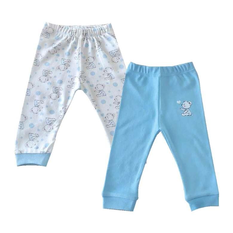 Bebek Paça Ribanalı Alt - Mavi, 3 - 6 Ay