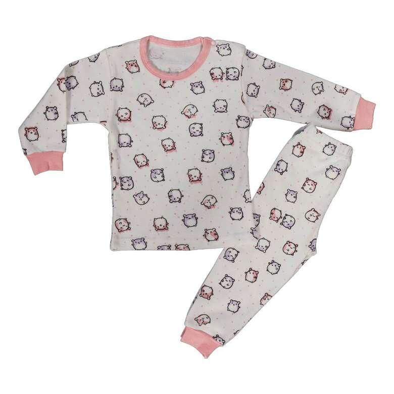 Bebek Pijama Takımı - Pembe 6 - 9 Ay