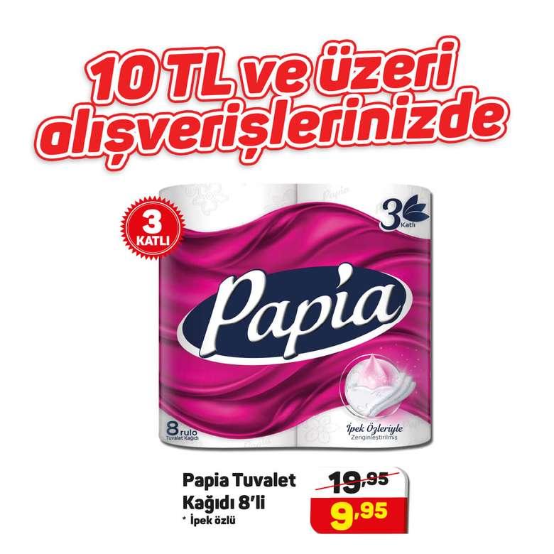 Papia Tuvalet Kağıdı 8'li