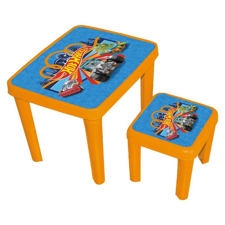 Lisanslı Masa Tabure Set - Turuncu