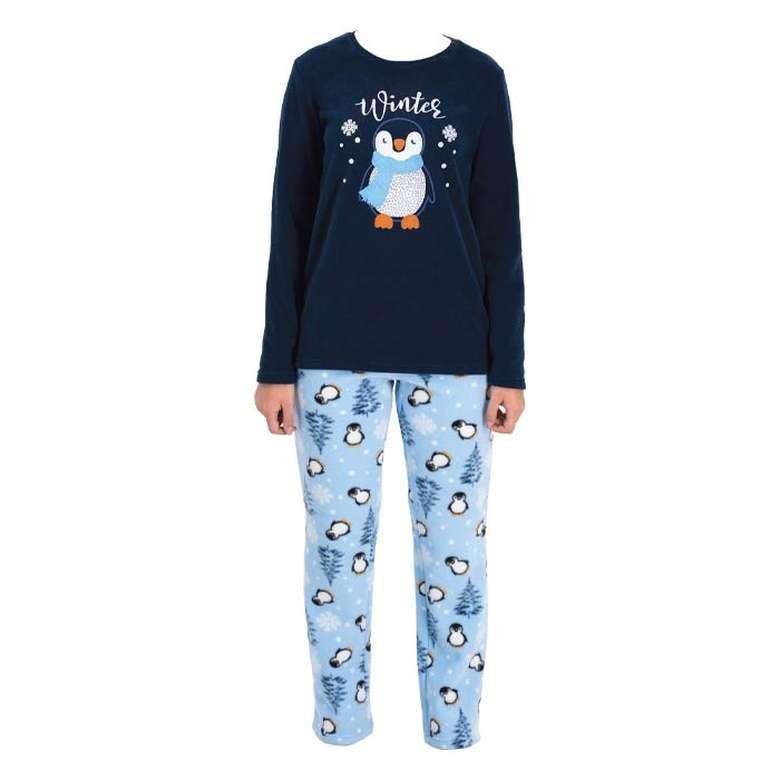 Bayan Polar Pijama Takımı Sılk&, Mavi, M