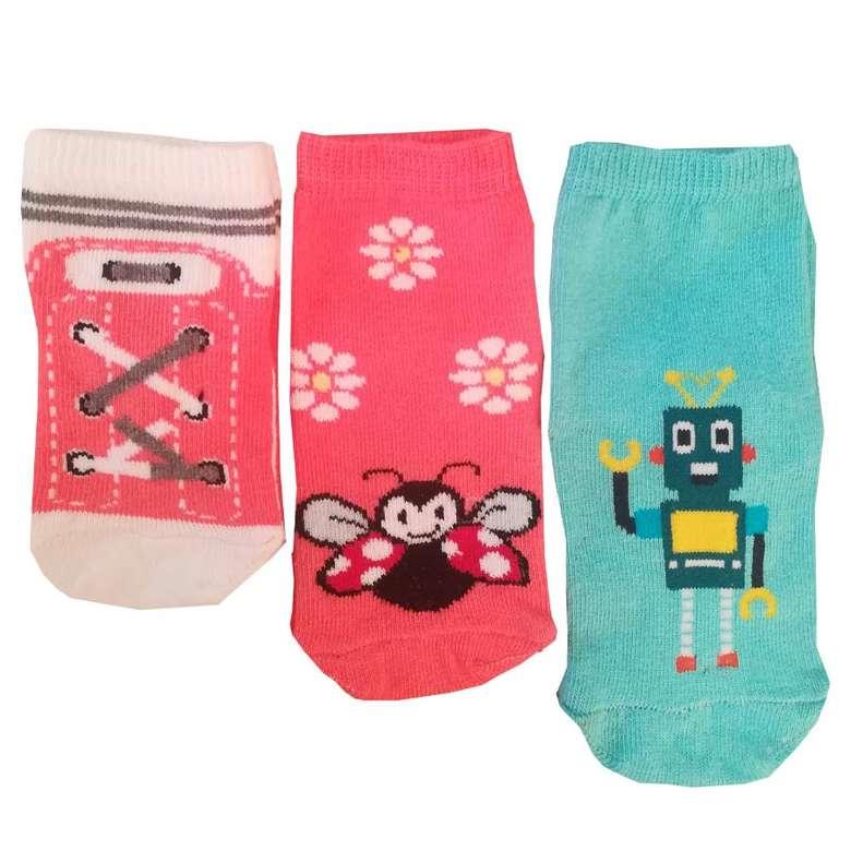 Silk&blue Bebek Soket Çorap Abs Taban 3'lü