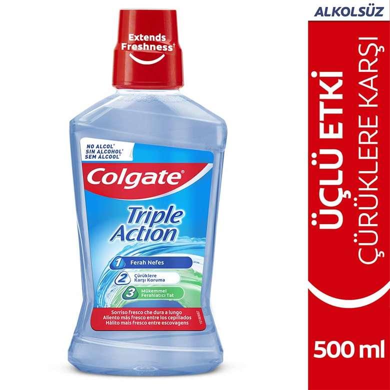 Colgate Ağız Bakım Suyu Üçlü Etki 500 Ml