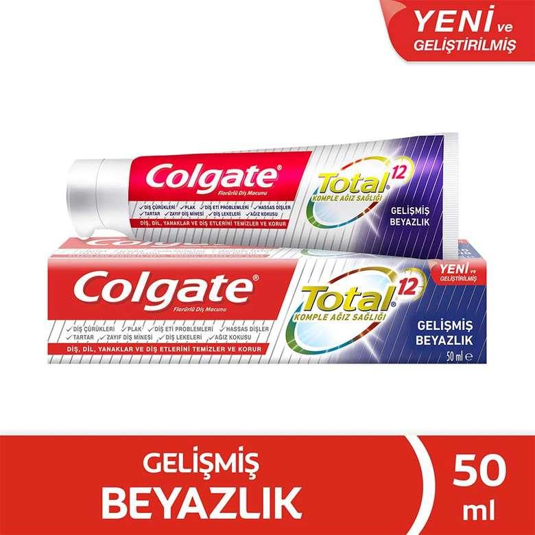 Colgate Total Gelişmiş Beyazlık Diş Macunu 50 Ml