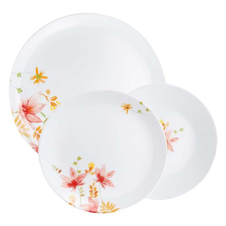 Luminarc Yemek Takımı 18 Parça Arpegio/camomile - Beyaz