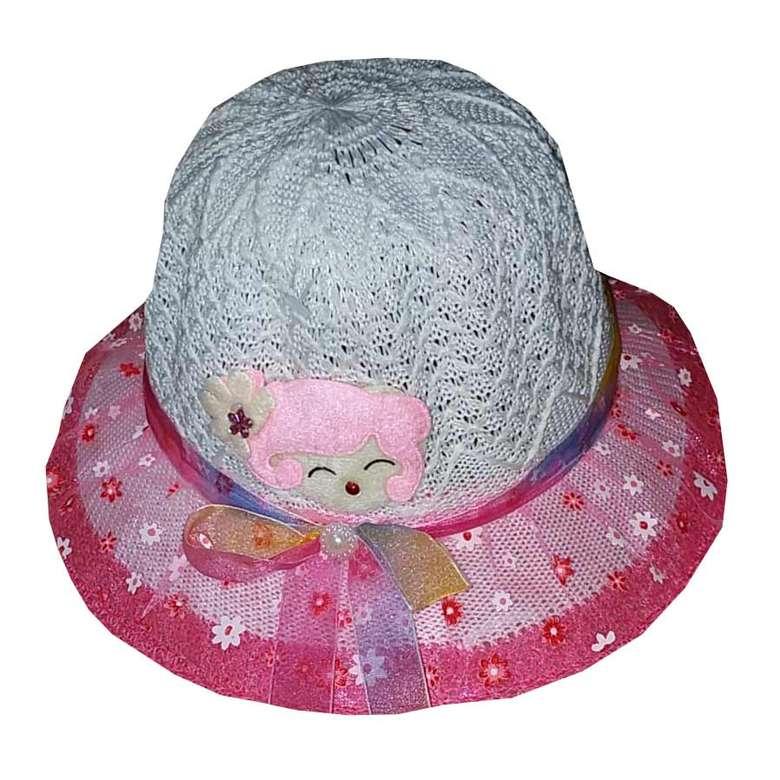 Çocuk Merserize Şapka Toz Pembe