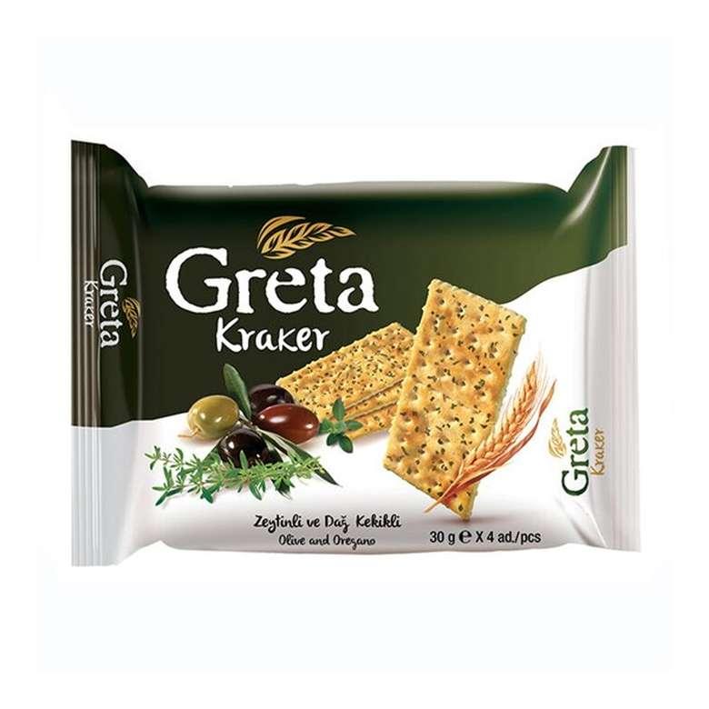 Greta Kraker Zeytinli Kekikli  4X30 Gr