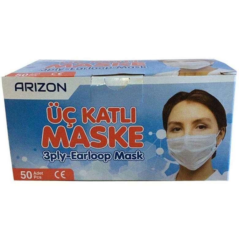 3 Katlı Cerrahi Maske - Kullan At 50'li Paket