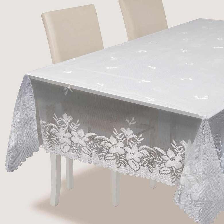 Örme Masa Örtüsü (150X220 Cm) - Açık Krem