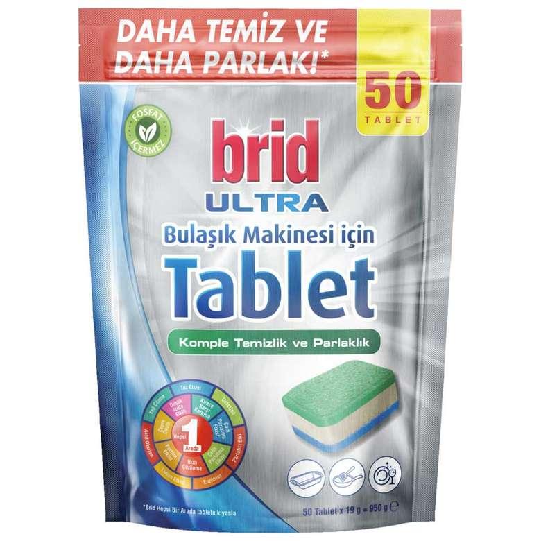 Brid Ultra Bulaşık Makinesi Tableti 50'Li