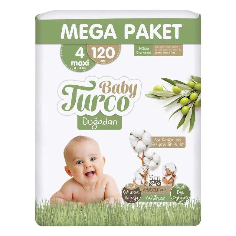 Baby Turco Doğadan Bez Maxi 120'li