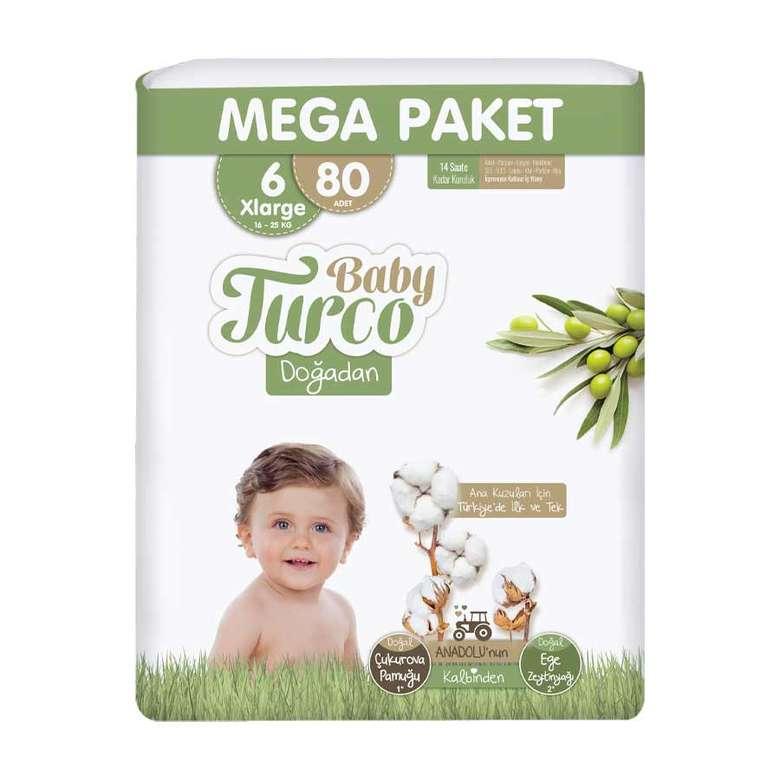 Baby Turco Doğadan Bez XL 80'Li