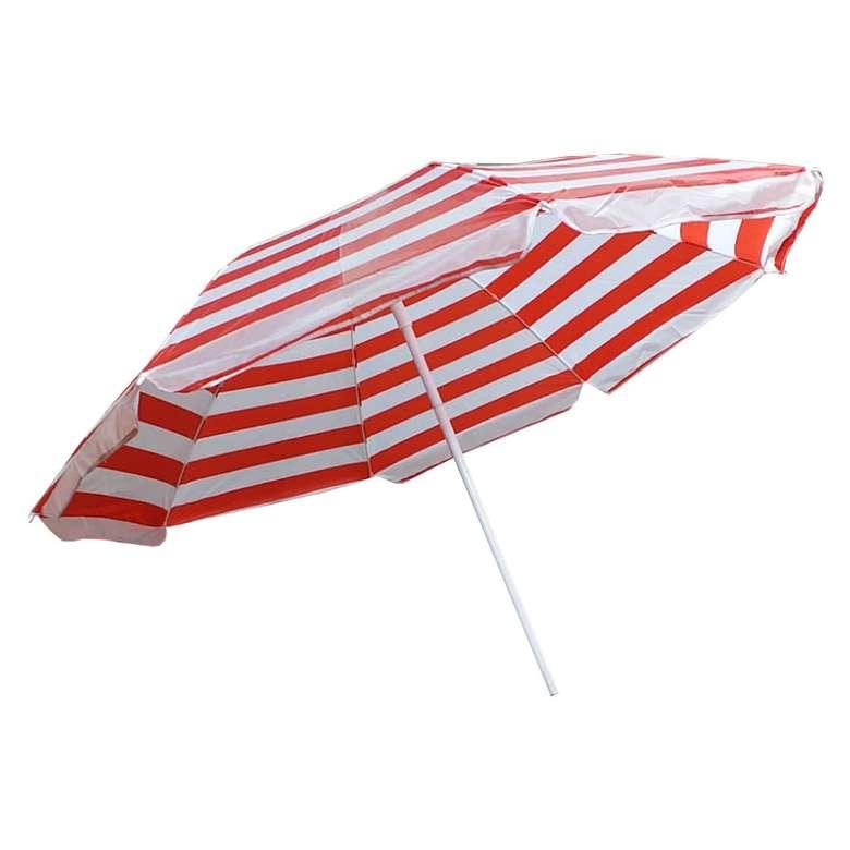 Plaj Şemsiyesi Tilt 1,60 Cm Kırmızı