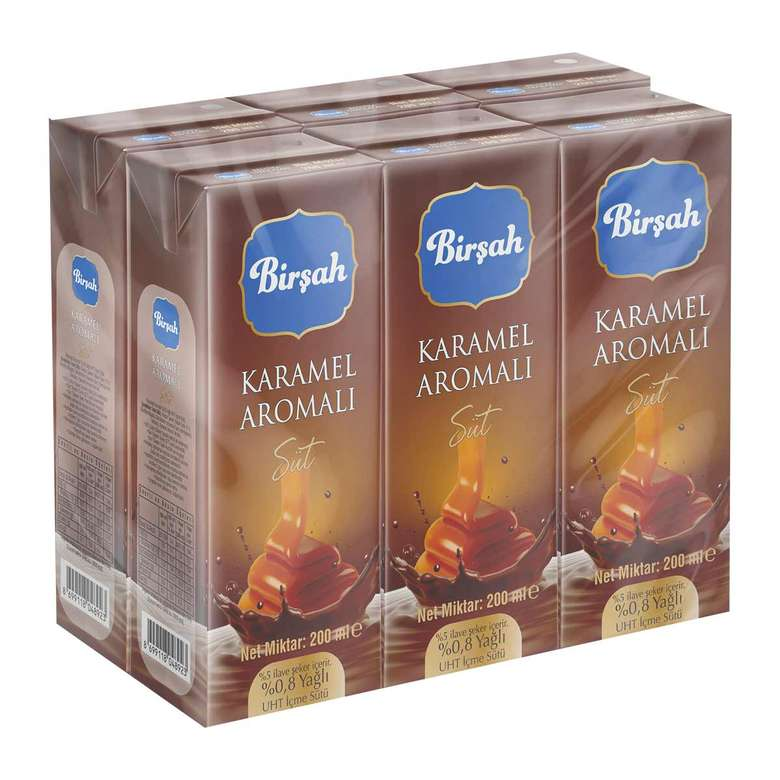 Birşah Karamel Aromalı Süt 6x200 Ml
