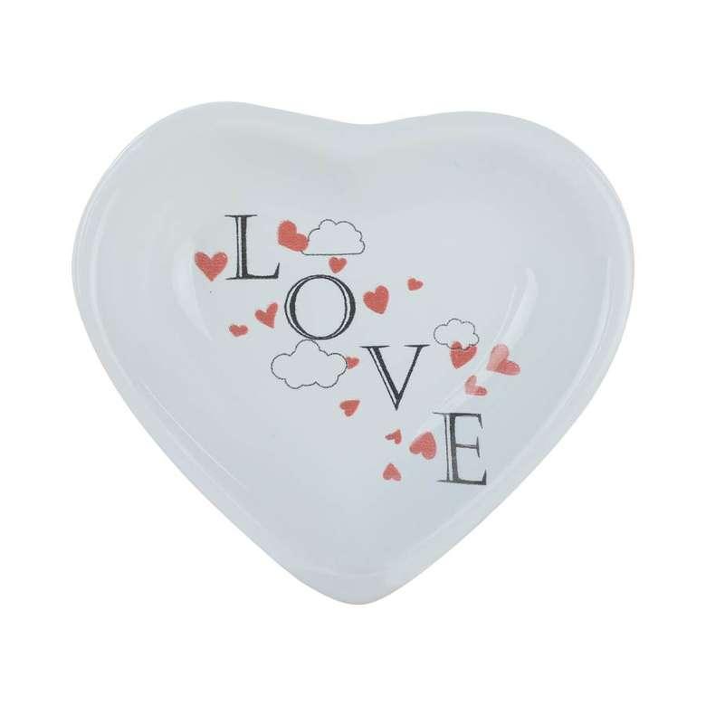 Kalp Çerezlik Love 14 Cm Keramika 4
