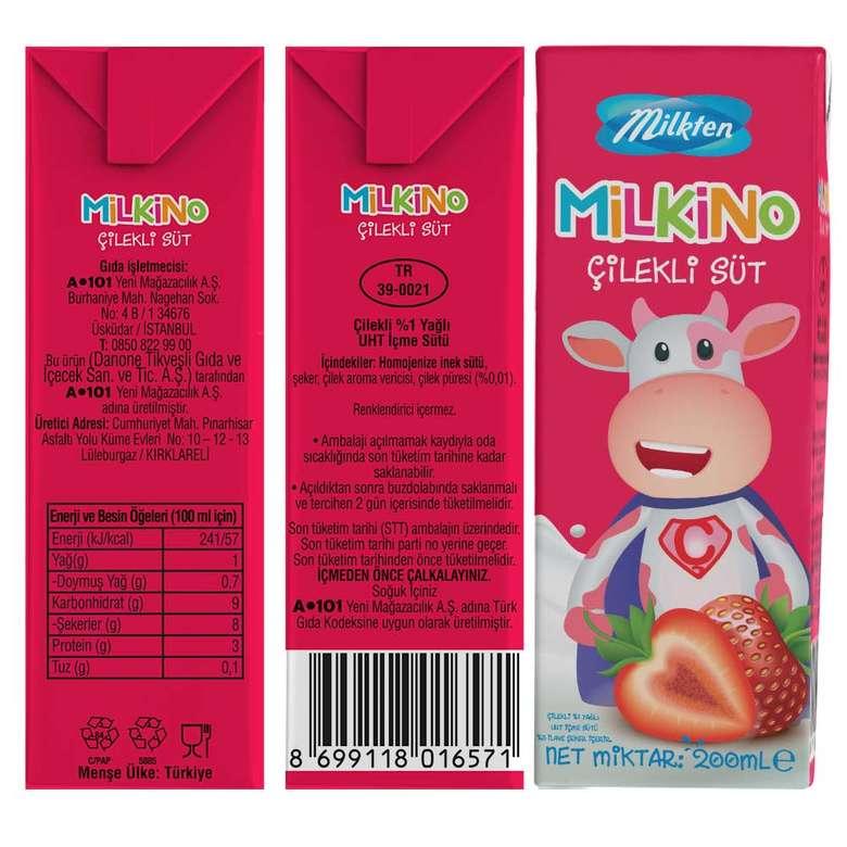 Milkten Milkino Çilekli Süt 200 Ml