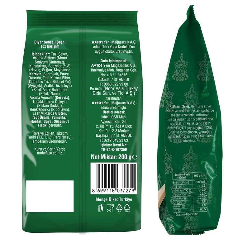 Diyar Baharat Çeşni Sebzeli 200 G