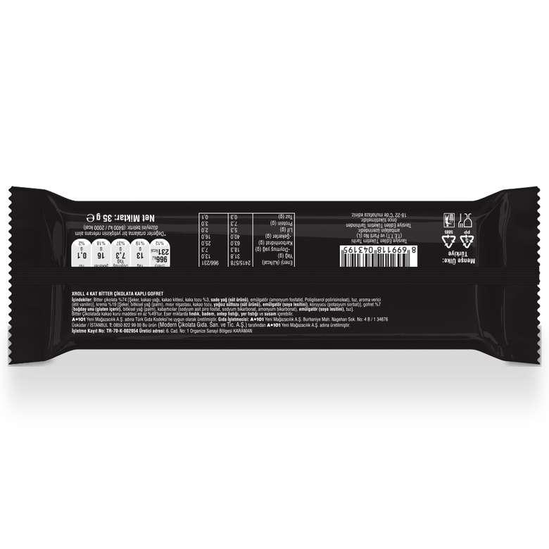 Xroll 4Kat Bitter Çikolatalı Gofret 35G