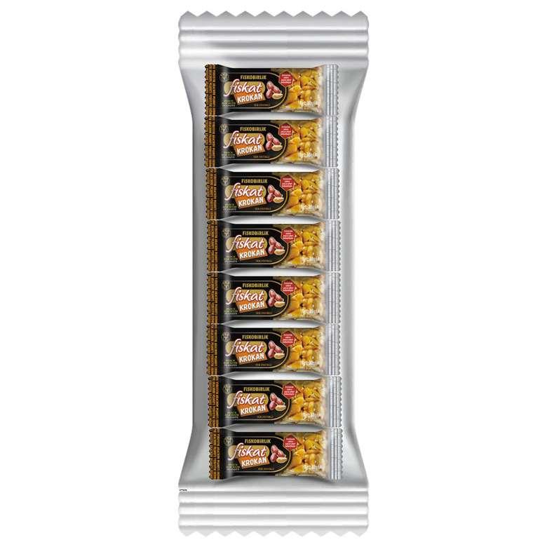 Fiskobirlik Fiskat Yer Fıstıklı Krokan Bar 8X30 G